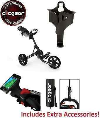 Best Value New Clicgear 3.5 Golf Push Cart + EXTRAS! Charcoal Black 3 Wheel (Best Golf Pushs)