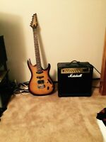 Guitar and amp combo