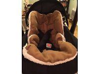 Baby car seat insert