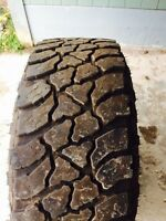 "4 - 35"" Kelly safari tires for sale with a spare"