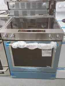 KitchenAid Electric Range W/ Downdraft. Stainless Steel