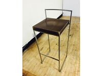 4 Designer Chairs Stools Beech Wood and Chrome very light and strong heavy duty