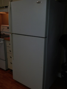 Used Whirlpool Refrigerator - white, very clean, great condition