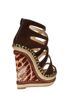 Authentic Christian Louboutin Chocolate Wedges
