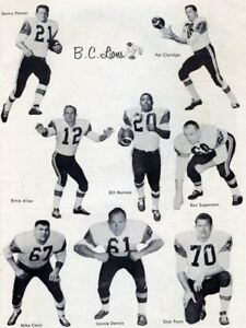 555ac89c4f5 CFL 1960 s BC Lions Team Photo Collage Black   White 8 X 10 Photo FREE  SHIPPING