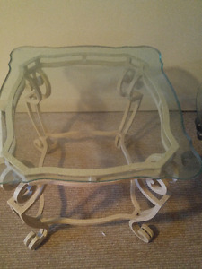 3 glass table set for sale