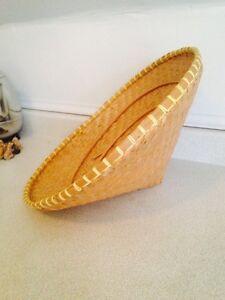 Hand Woven Vintage Oriental Farmers Cone Hats. Oriental Decor