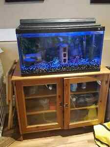Fish tank and accessories with cabinet
