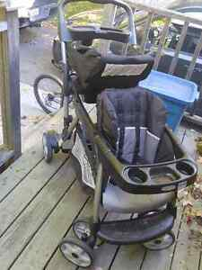 Graco Double Stroller + Car Seat