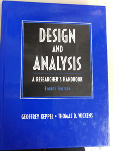 Book Design and Analysis  Geoffrey Keppel  thomas D. Wickens