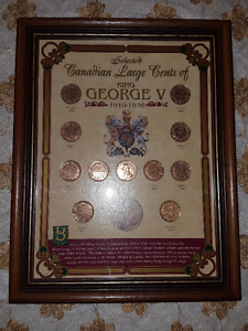 Heritage Collectibles Canadian Large Cents of King George V