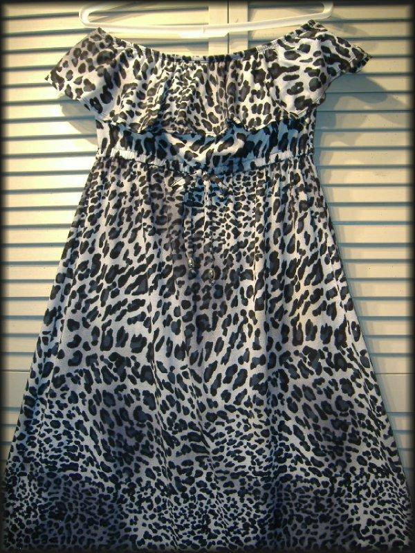 CATALINA Black & White Animal Print Strapless Knit Maxi Dress Size (M) 8/10