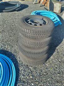 MK4 Golf Steel Wheels & Tyres