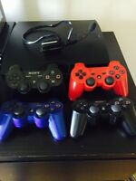 PS3 SLIM 160GB + 4 Controllers + 10 GAMES + BlueTooth Headset