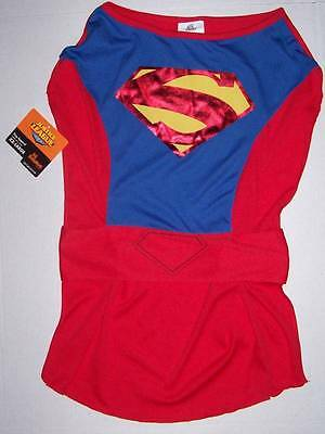 NWT Justice League Superman Dog Costume Size Large Halloween Dress Up Super Hero