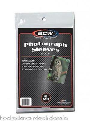 1000 BCW Brand 5 x 7 Photo Postcard Sleeve Holder Bag Pack