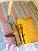 Antique Light and ruler stand for 8mm filming
