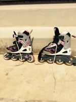 Girls adjustable rollerblades.