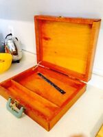 Vintage Hand Crafted Mahogany Drafters Case or Stencil Box