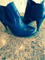Ladies Blue Ankle Boots