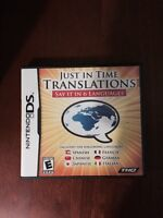 Nintendo DS Just in Time Translations Game