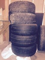 5 used winter tires 255/50 R19