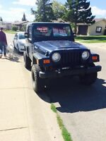 2000 lifted Jeep TJ with winch $9750