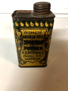 Late 1800's H.H. Dryden Ltd Sporting Powder Tin from Sussex, NB