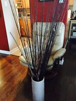 Decorative vase with branches