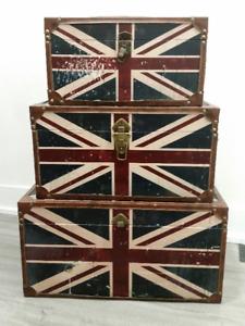 Union Jack Nesting Trunks - 3 Set - $40 OBO