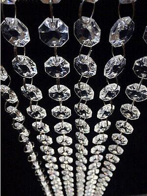 Hot DIy Clear Acrylic Crystal Bead Garland Chandelier Hanging Wedding Supplies - Garland Diy