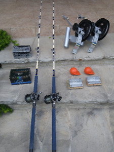 Downriggers and rods package - never used