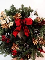 Real wreaths!