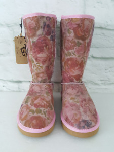 Bottes UGGS Boots Flower Patern Neuve Brand New With Tags Winter