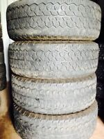 Set of 275/65R18 truck tires