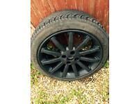 195/45R16 brand new tyre on 11 spoke black alloy wheel MG