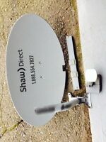 Shaw Direct Dish and HD receiver.