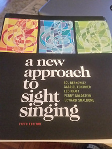 MUSI 259 & 260 - A New Approach to Sight Singing 5th Edition
