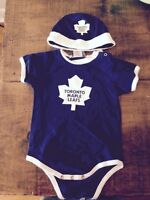 Toronto Maple Leafs Onesie and Hat
