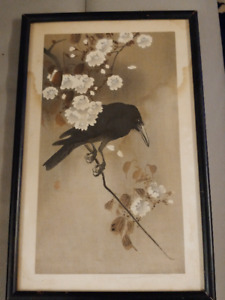 Crow on a cherry branch by Ohara Koson 1910 best offer