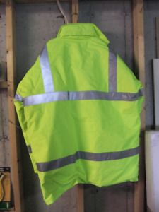 Men's Winter Coat. Lime Green.