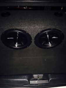 ^^** CLARION SUBS IN PORTED BOX WITH MATCHING MONO BLOCK AMP!! Kitchener / Waterloo Kitchener Area image 3
