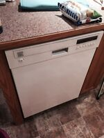 Stainless steel dishwasher, white. Like new.