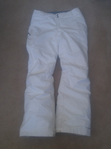 Coumbia White Snow Pants (Womens Med) in good condition