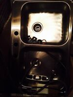Kitchen stainless steel sink & moen pullout faucet Brand New!!