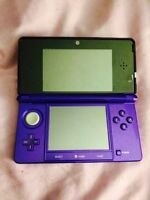 midnight purple 3DS great condition!