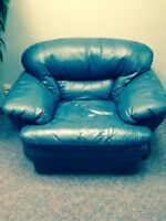 1 leather couch, 1 leather love seat and 1 leather chair