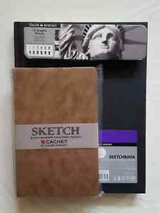 Graphic Pencil Set + 2 Sketchbooks