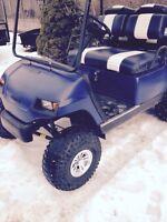 Yamaha lifted golf cart
