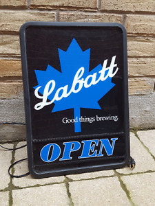 Beer Light Labatt Beer Light Bar Light Beer Sign Item Vintage